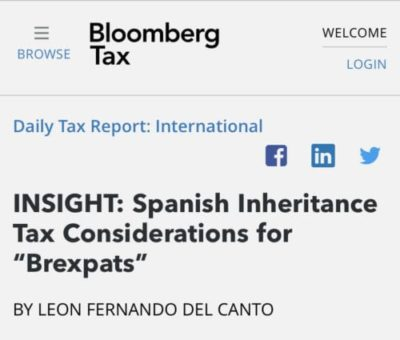 """Spanish Inheritance Tax Considerations for """"Brexpats"""""""